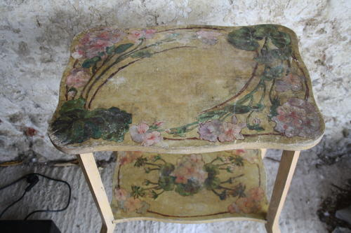 Pretty two tier painted table
