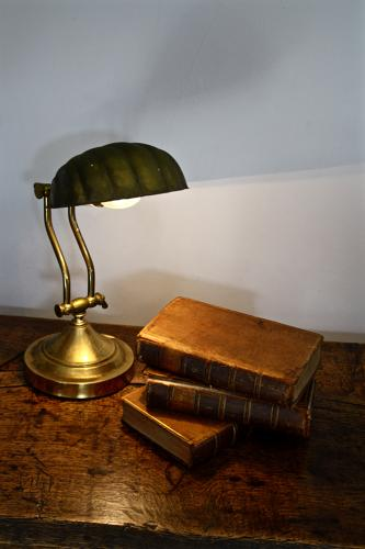 Mid century brass shell adjustable reading lamp