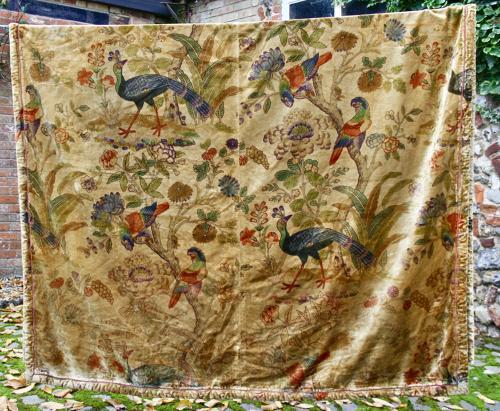 Pair of silk velvet bedspreads/curtains
