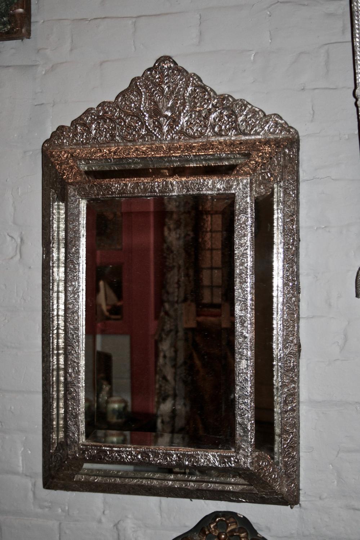 Indian silver cushion mirror