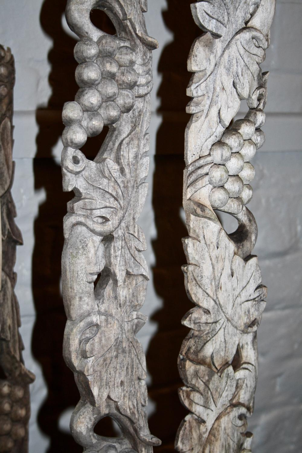 Wooden carvings - vines and grapes