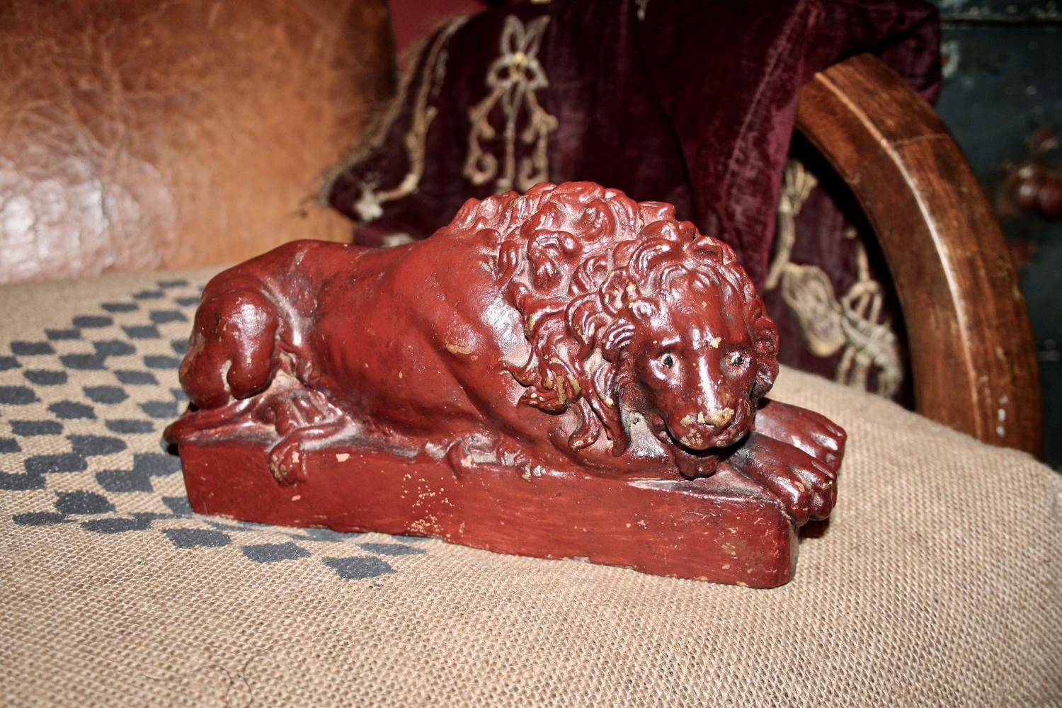 French terracotta lion
