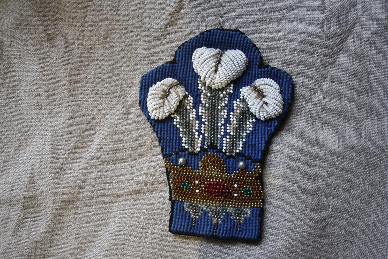Victorian beadwork fleur de lys