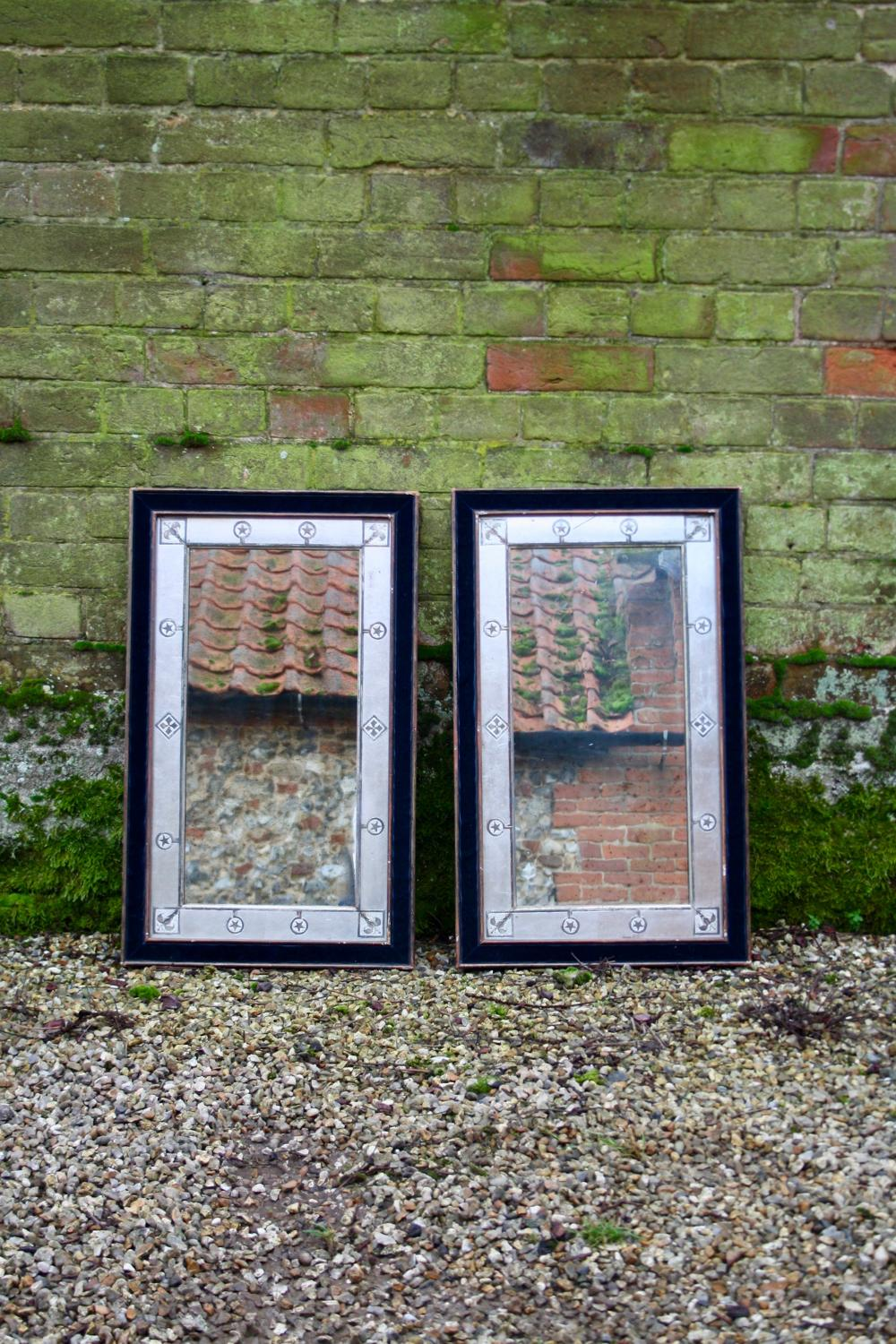 Pair of art  nouveau frames