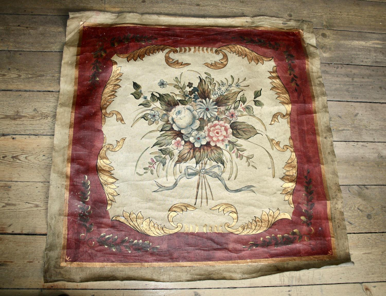 Large French floral canvas