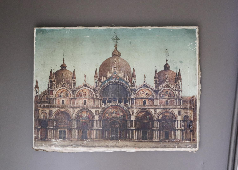 Print of San Marco duomo, Venice - mid century