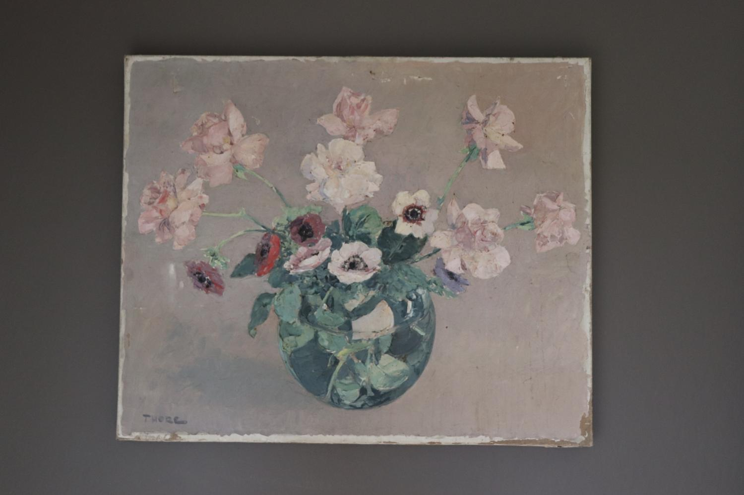 French oil painting of flowers