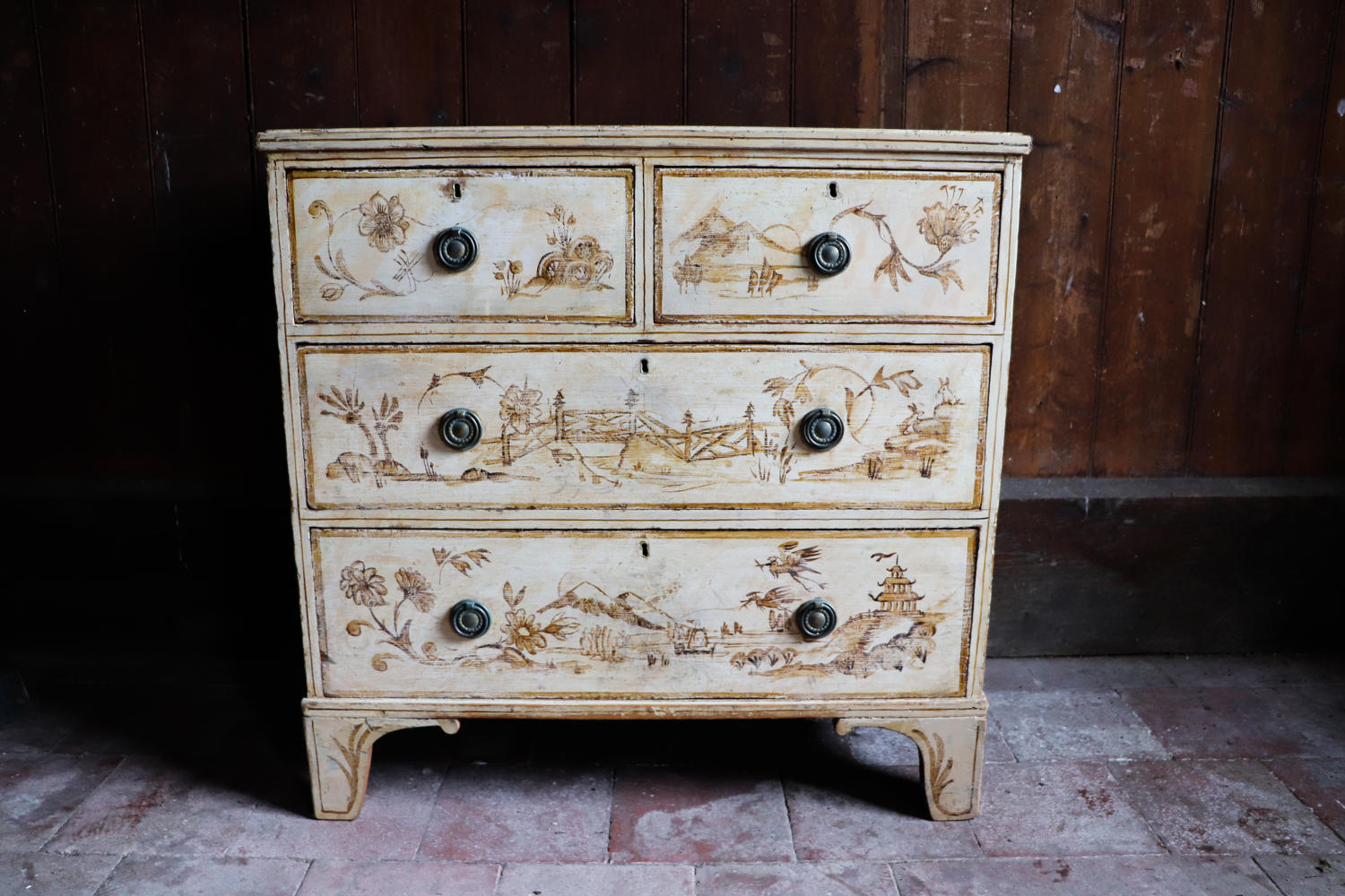 19th century chinoiserie chest of drawers