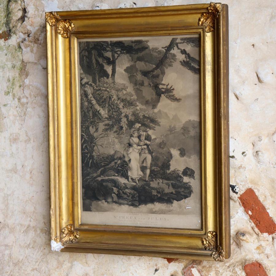 Framed print of St Preux et Julia