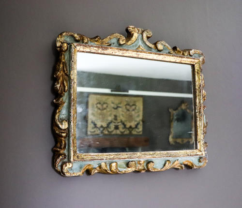 Painted and gilt framed Italian mirror