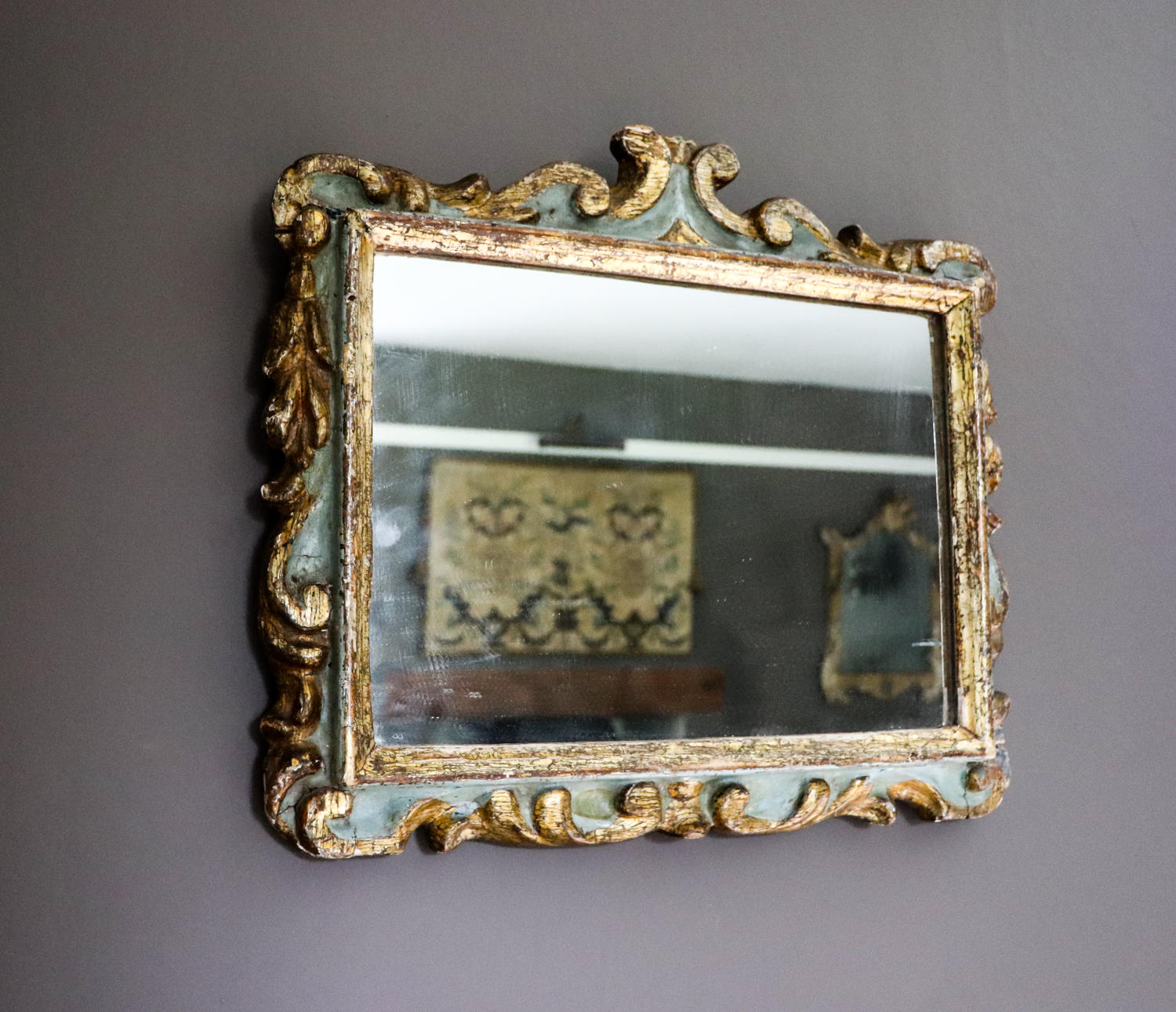 Painted and gilt framed Italian mirror