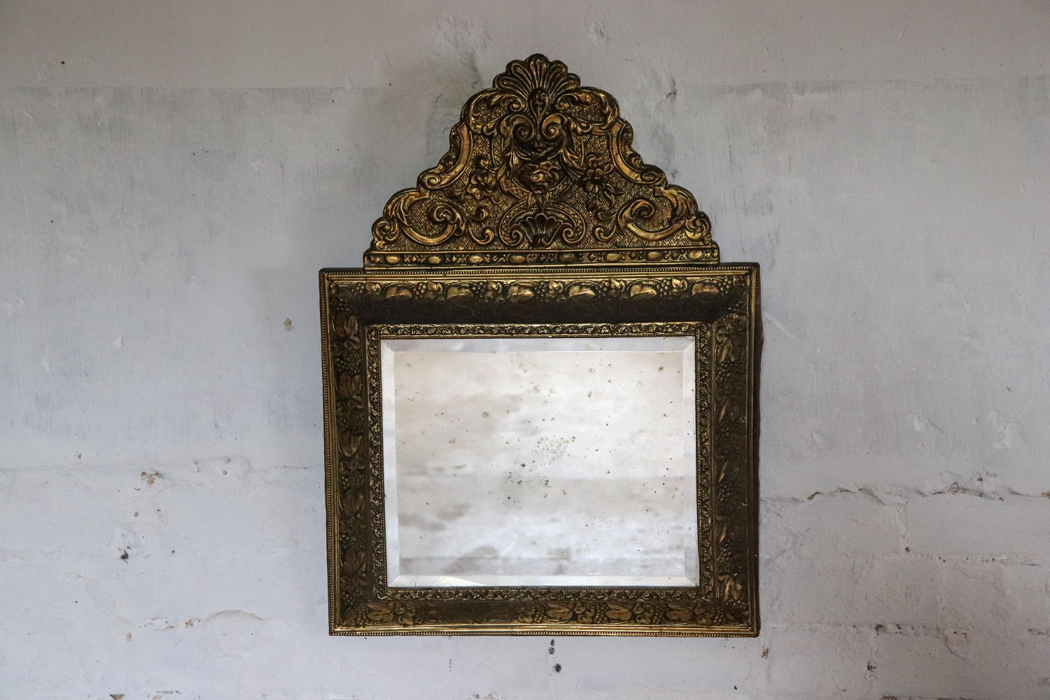 19th century French repoussé mirror