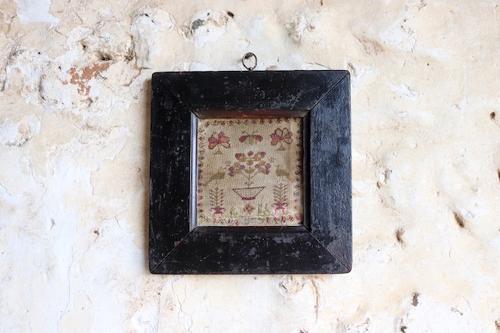 19th century framed sampler