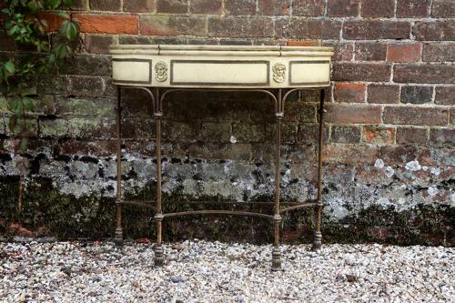 1930s demi lune console table