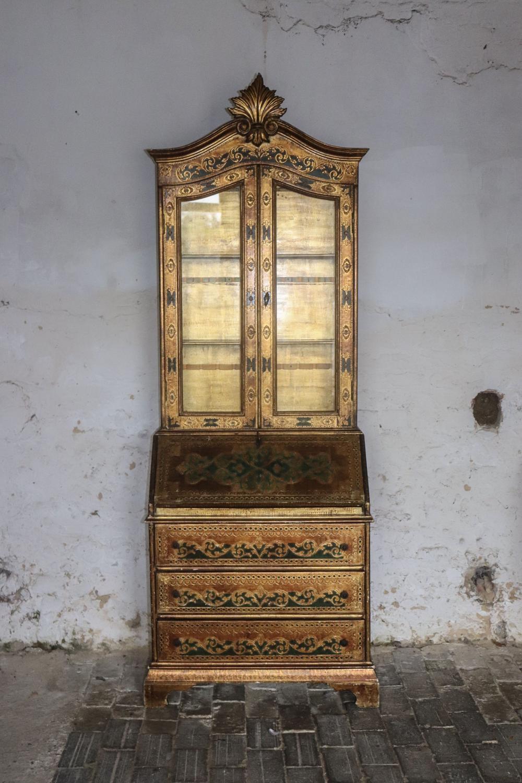Florentine glazed bureau