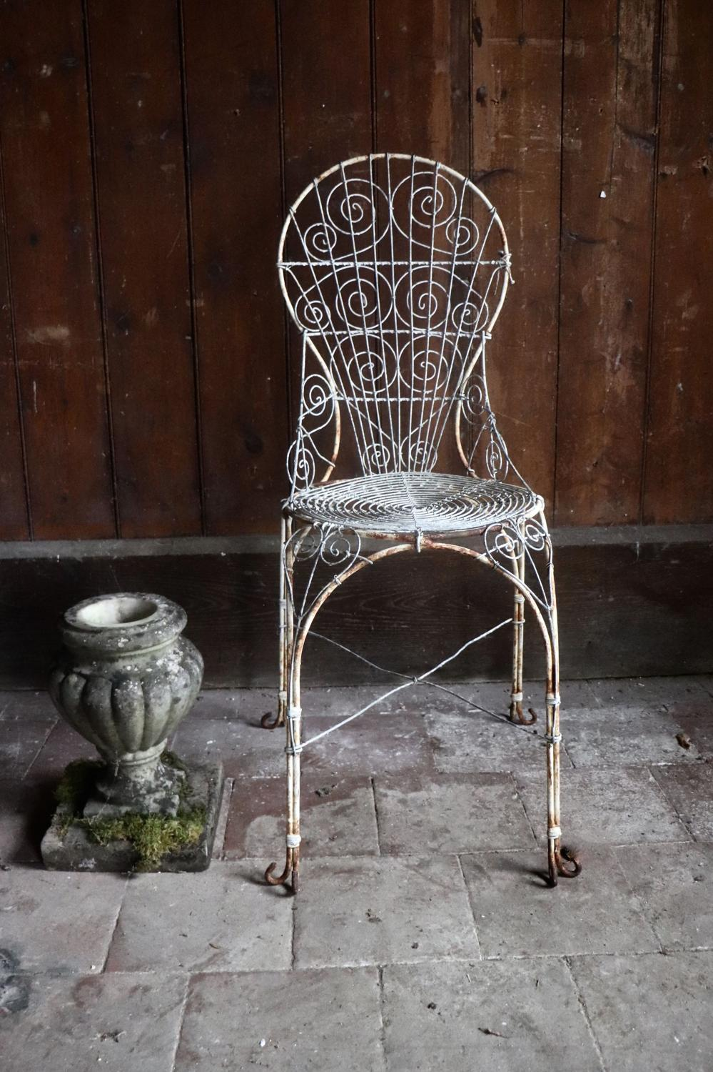 Wirework garden chair