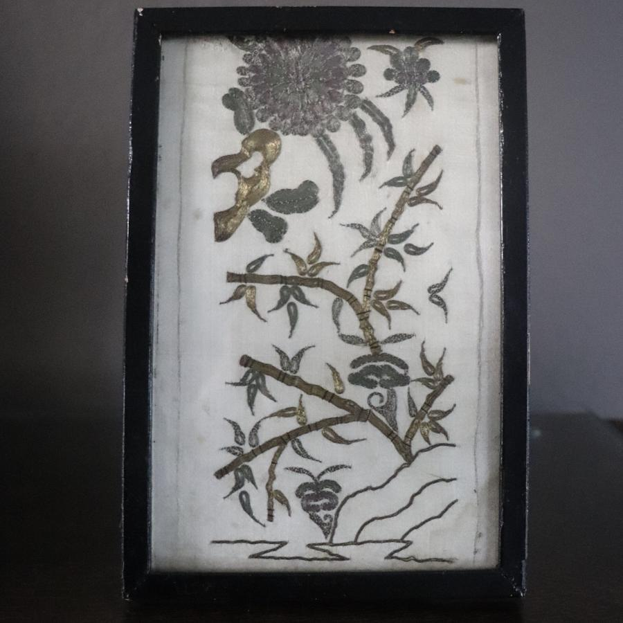 Early 19th century metallic thread embroidery