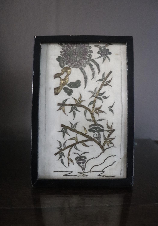 Early 19th century metallic thread embroidery