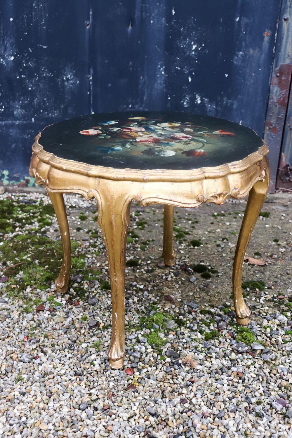 1950s Florentine coffee table