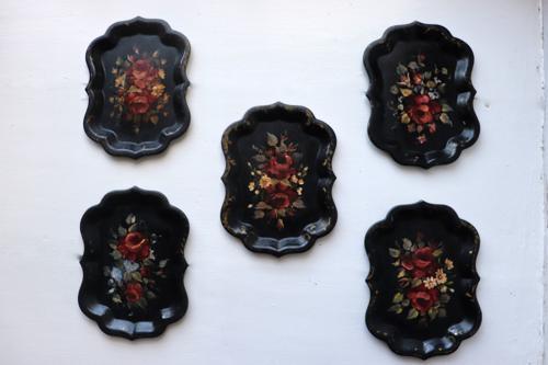 Victorian toleware trays