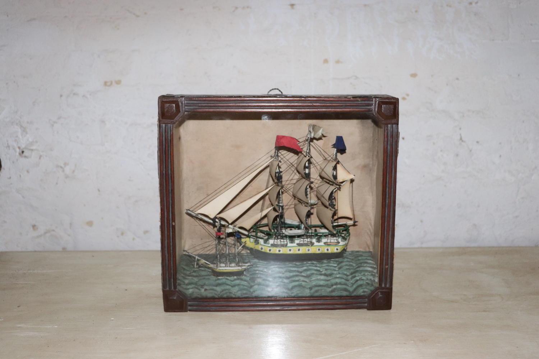 Victorian ship diorama