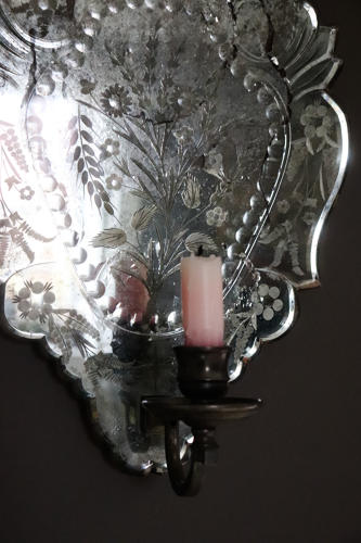 1930s mirrored girondole wall sconce