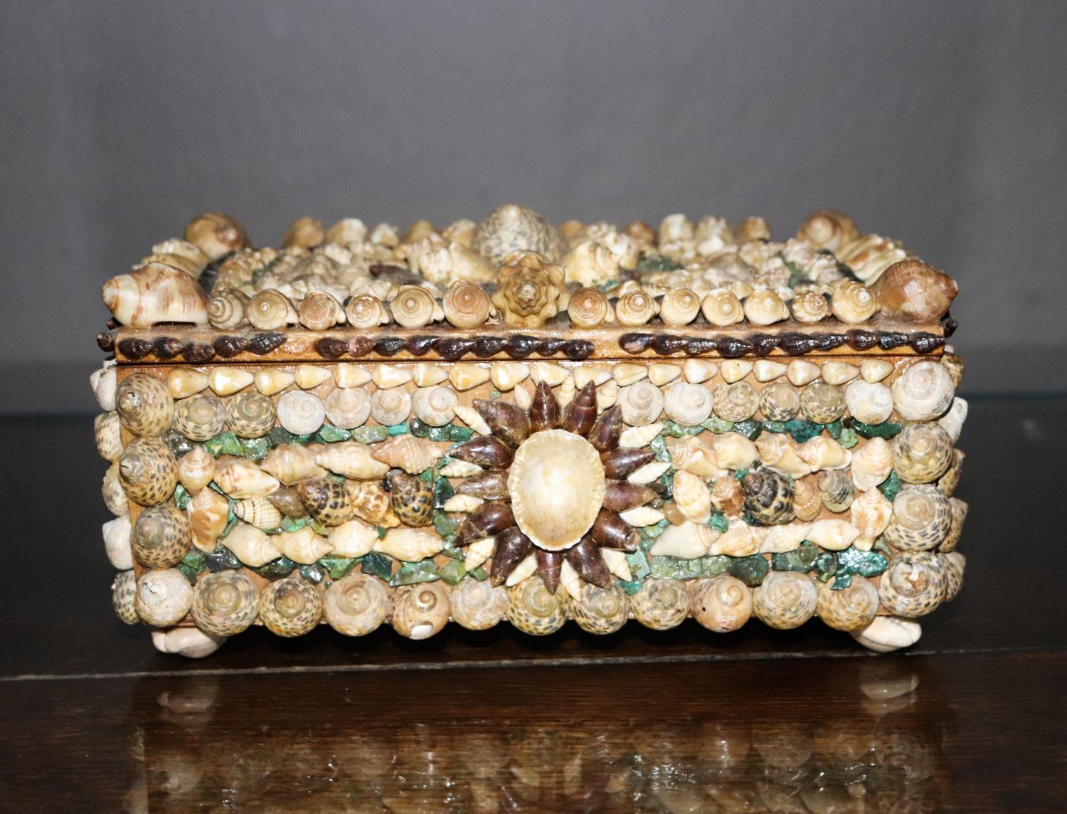 Beautiful shell covered jewellery box