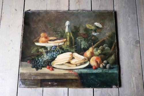 19th century still life French oil painting