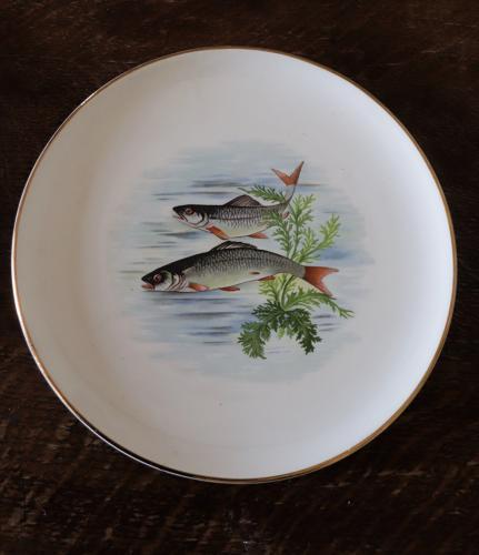 Set of 8 Gaen Paris fish plates and a platter
