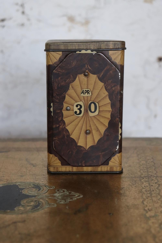 Lyons perpetual calendar tea caddy