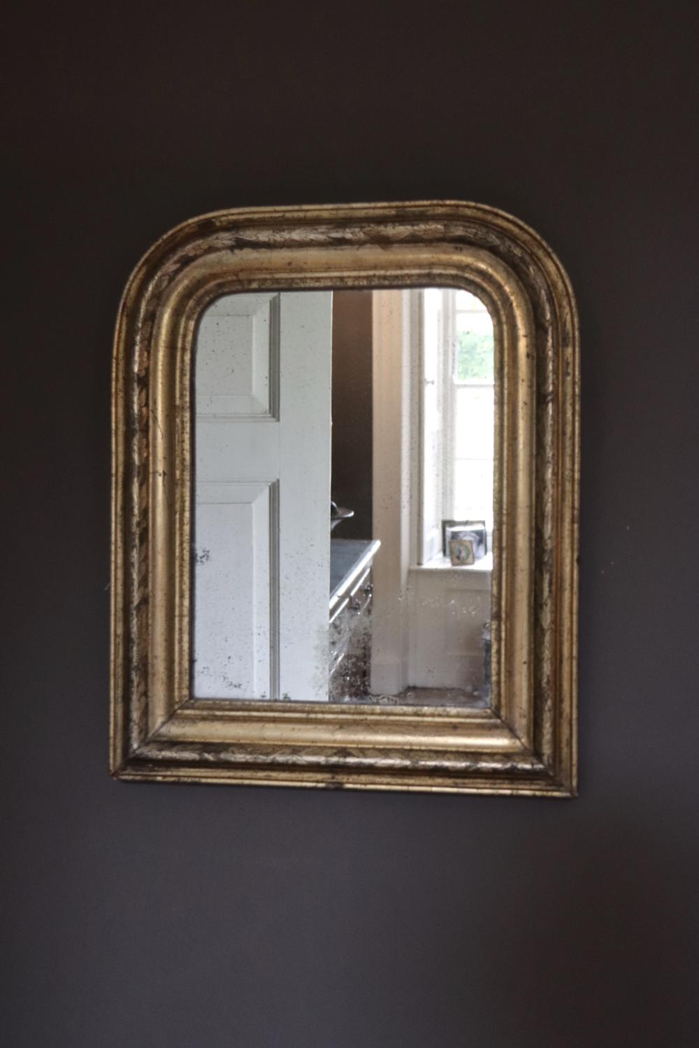 Small 19th century gilt mirror