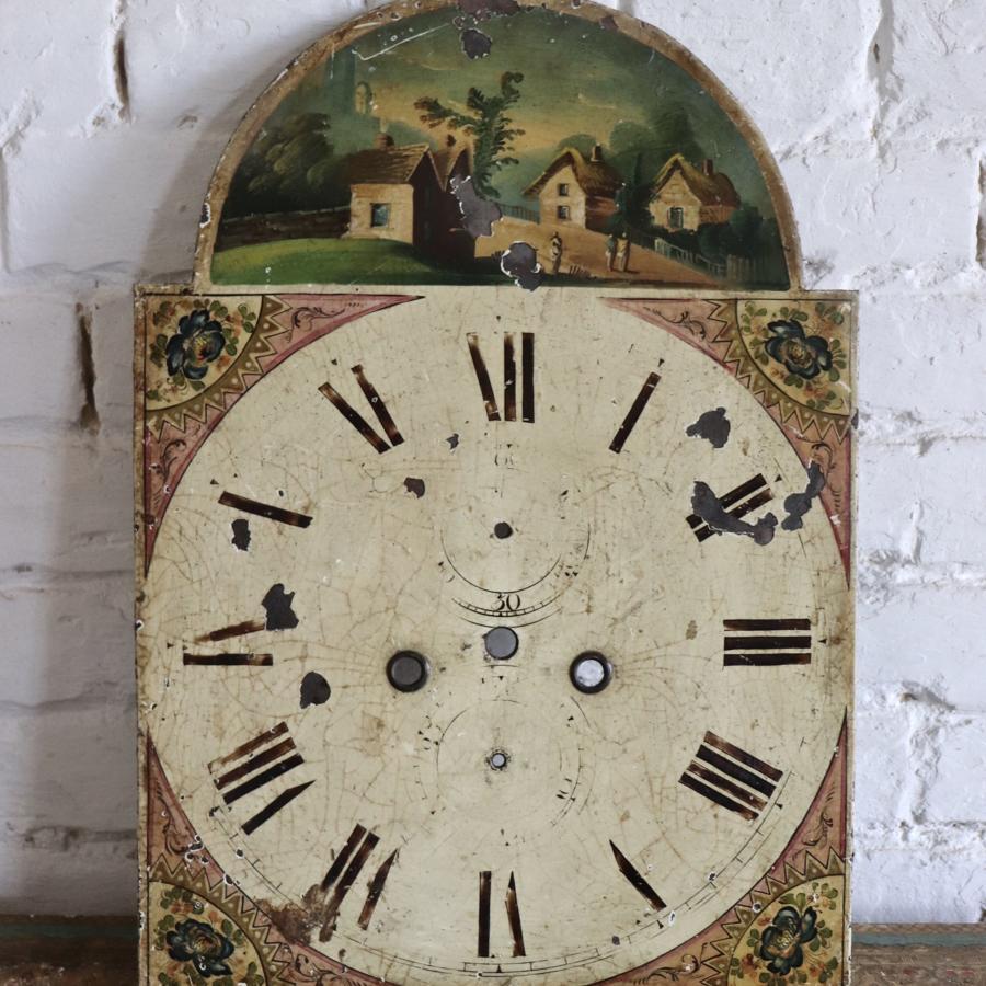 19th century toleware clockface