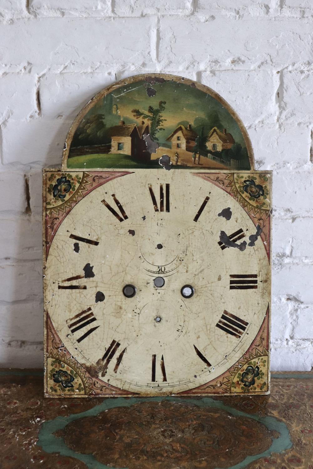 19th century toleware clockface
