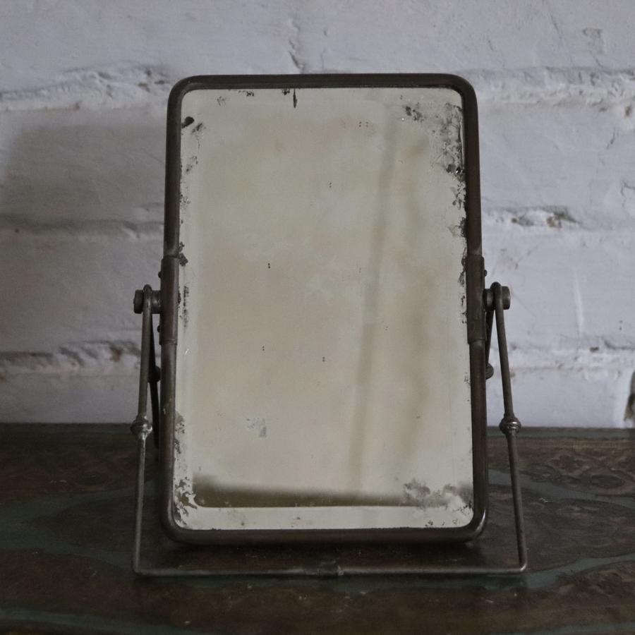 19th century campaign table mirror