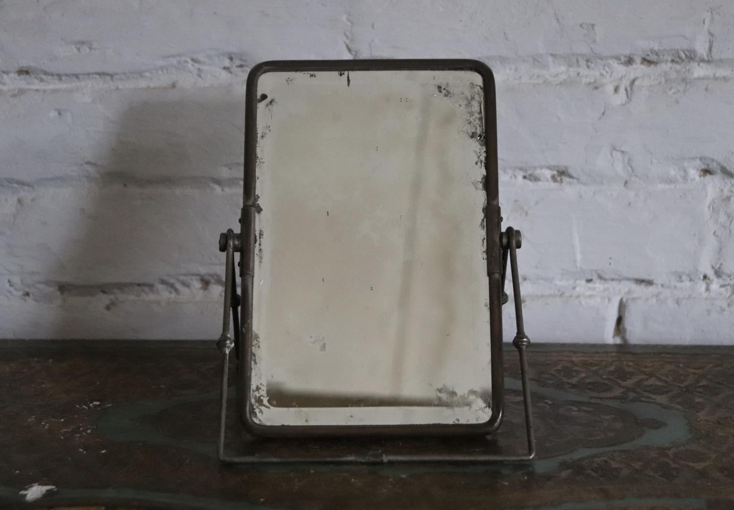 19th century campaign table mirror