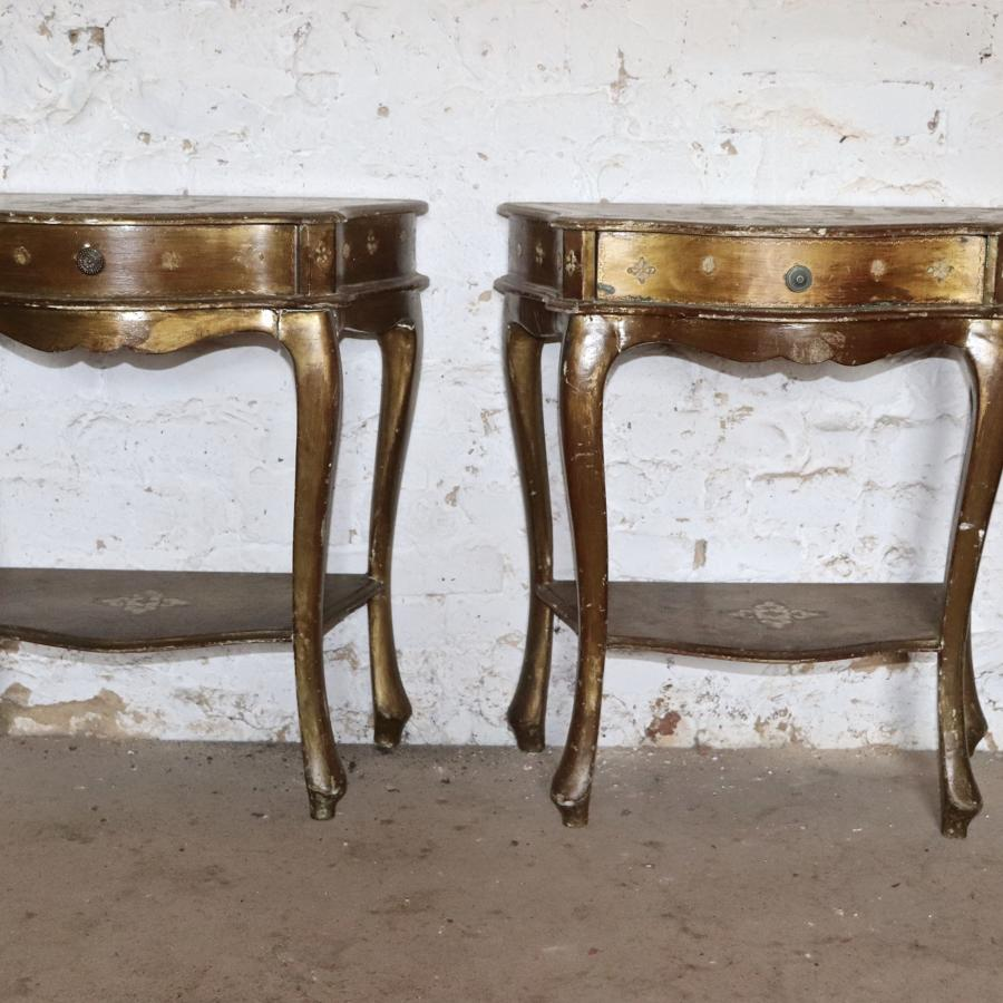 Pair of mid century bedside tables