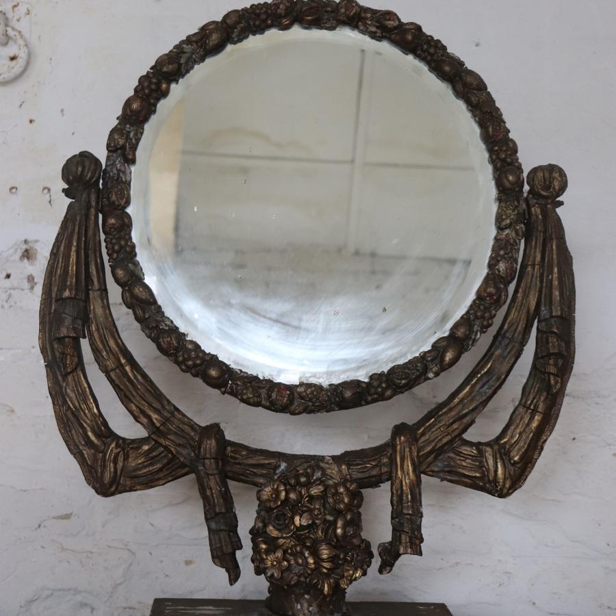 Beautiful 19th century giltwood dressing table mirror