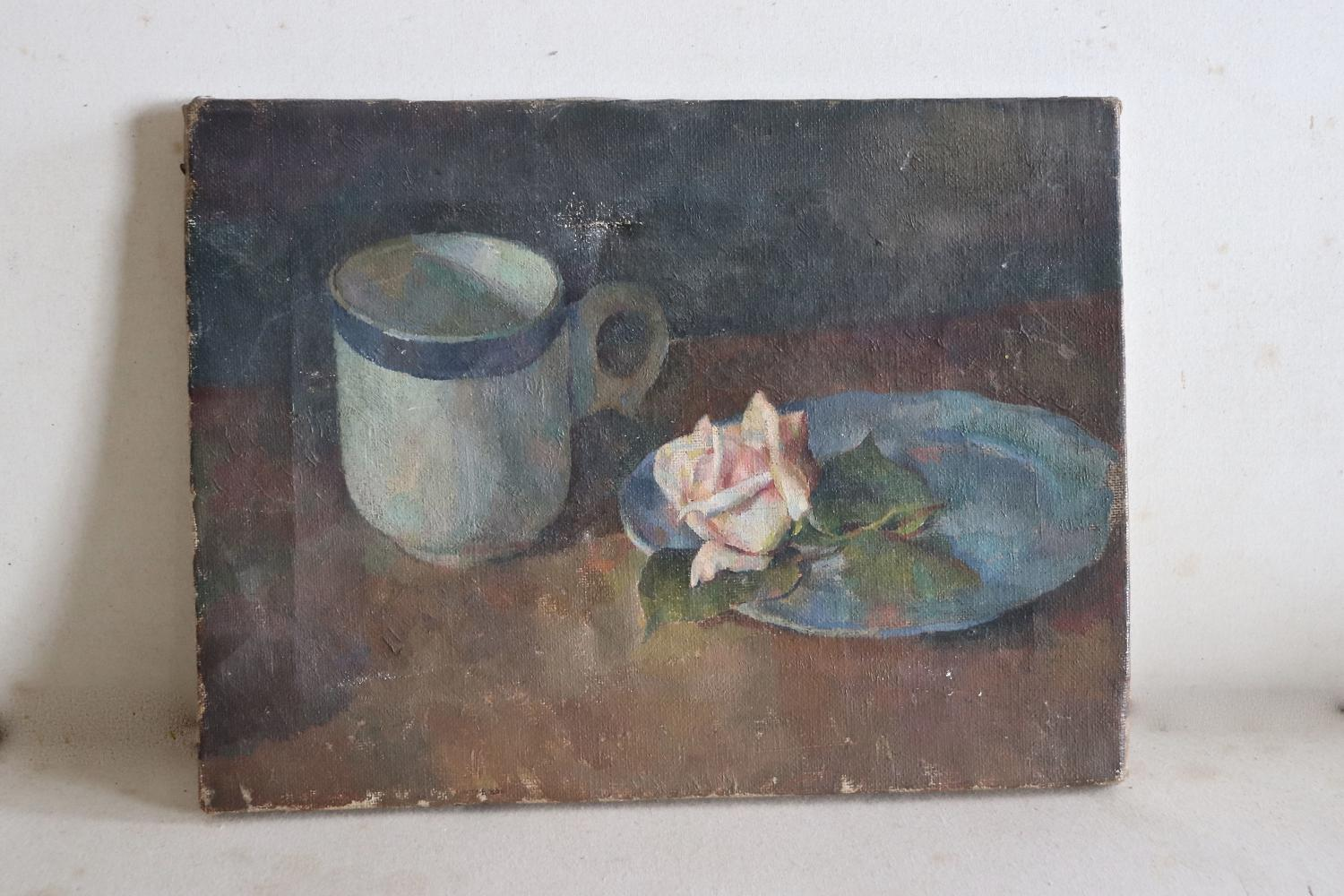 Small early 20th century oil painting