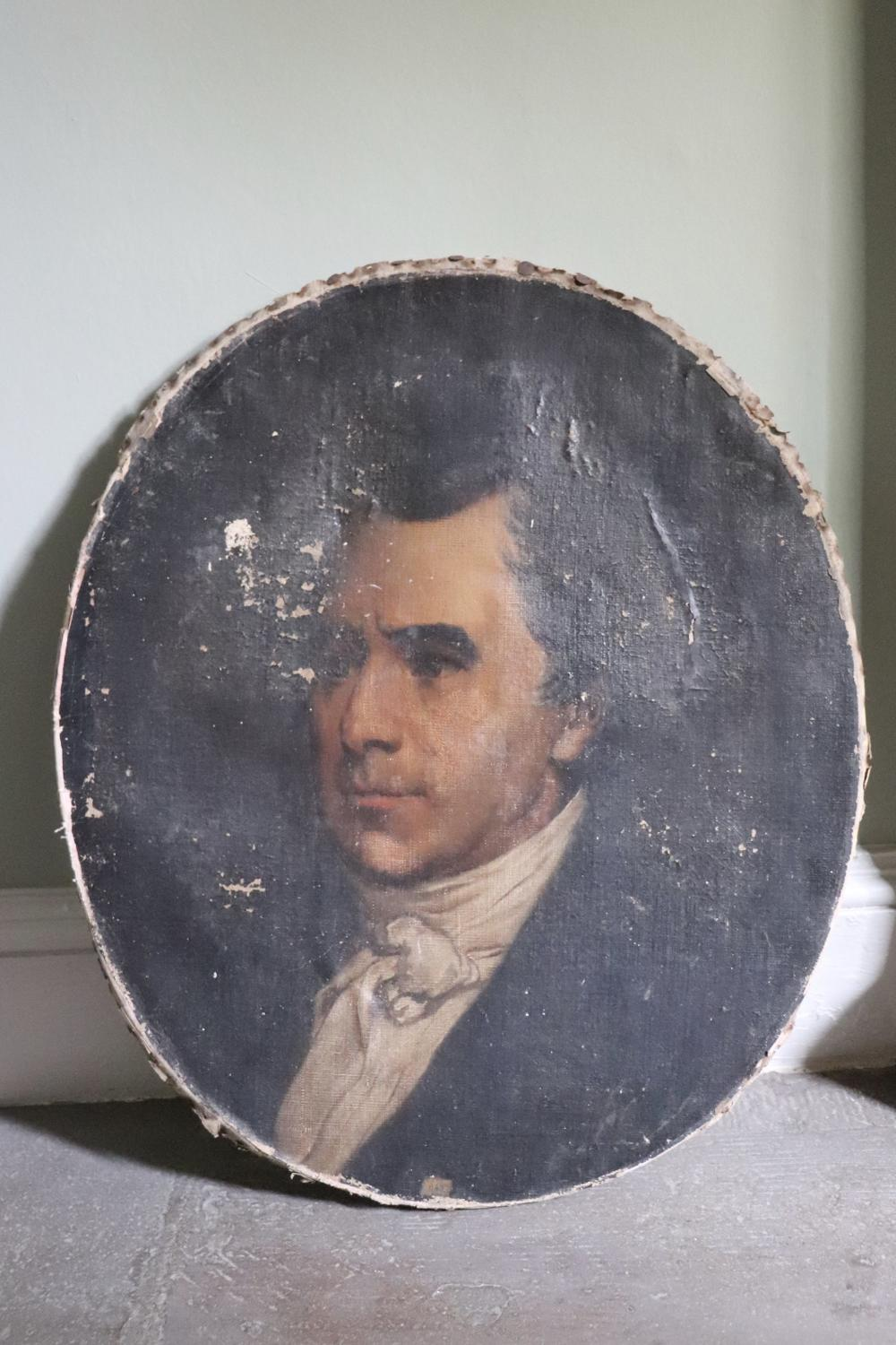 19th century oval portrait of a gentleman