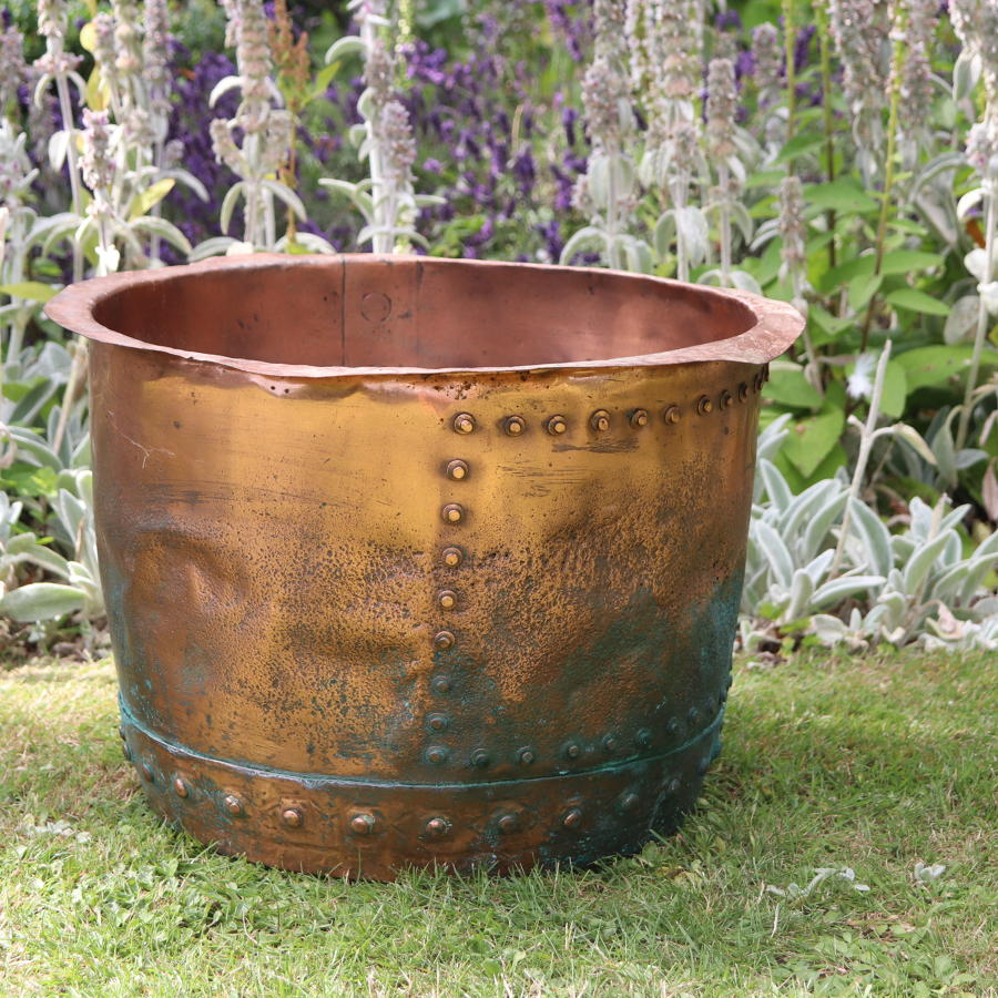 19th century riveted copper vat