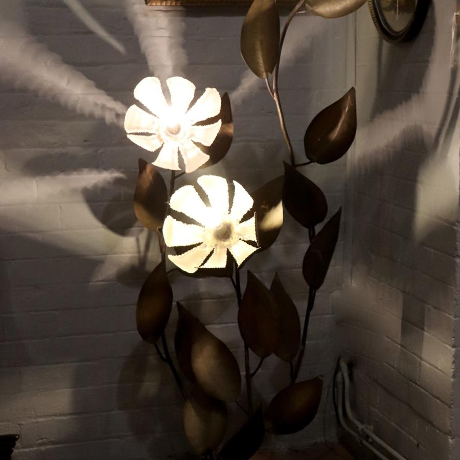 French 1950s flower floor light