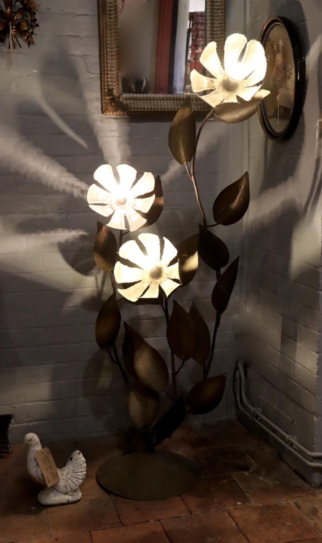 French 1950s flower floor light