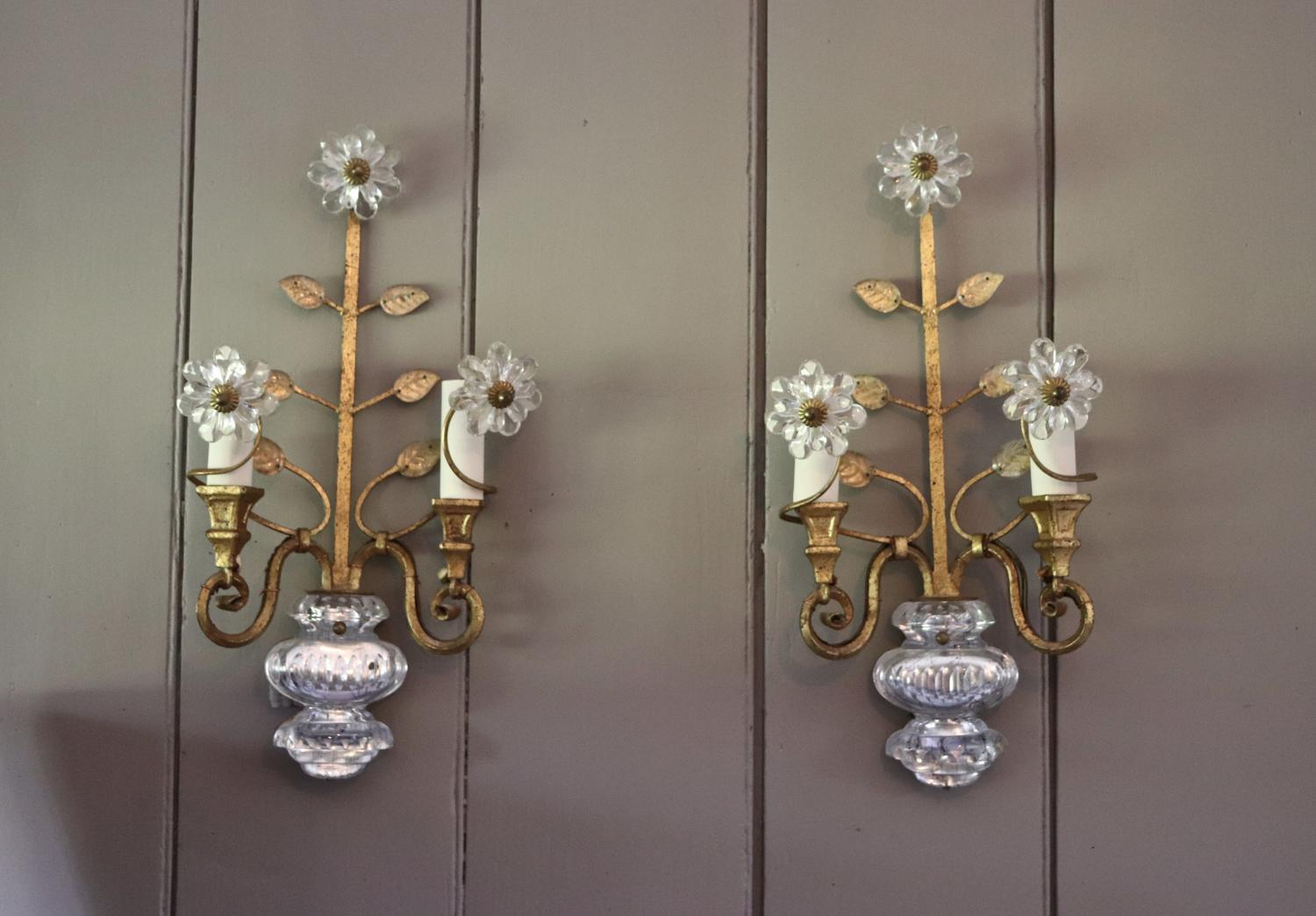 Pair of Maison Bagues style wall lights