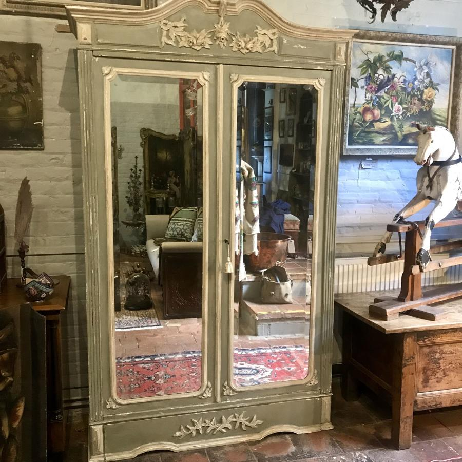 Beautiful 19th century painted armoire