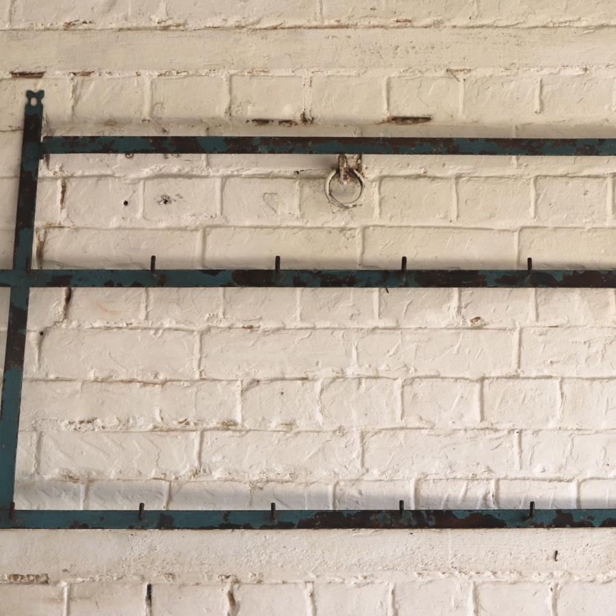 Early 20th century metal utensil rack