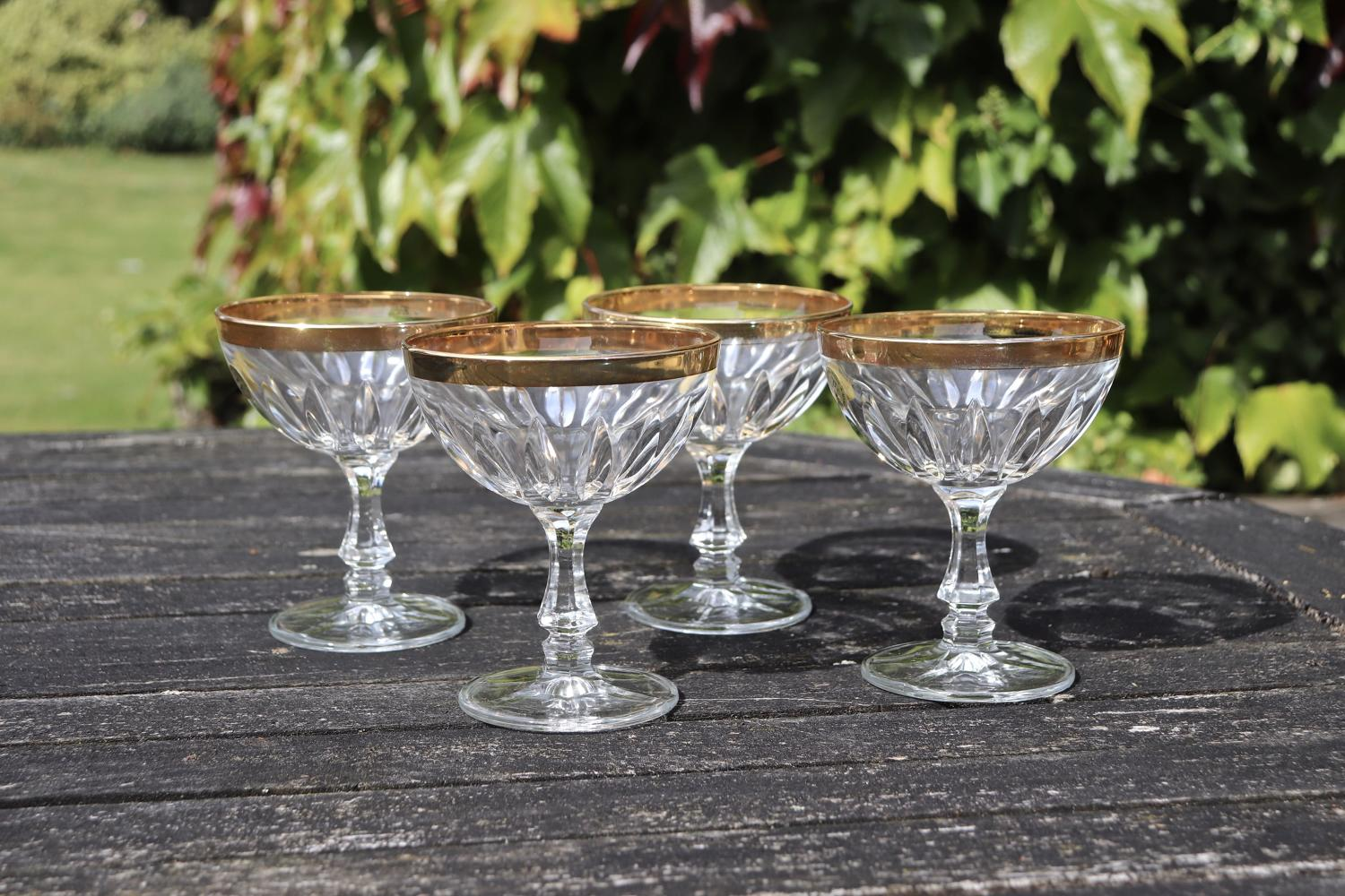 Vintage Italian champagne coupes