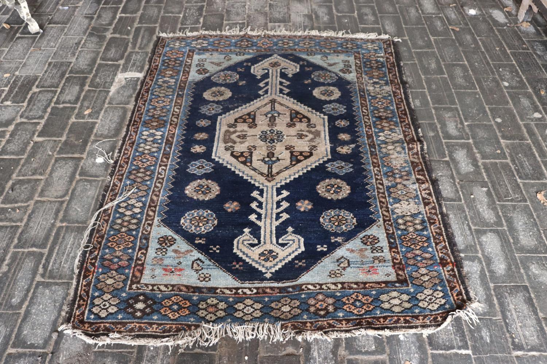 Antique blue rug