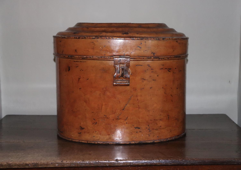 Late 19th century toleware hatbox