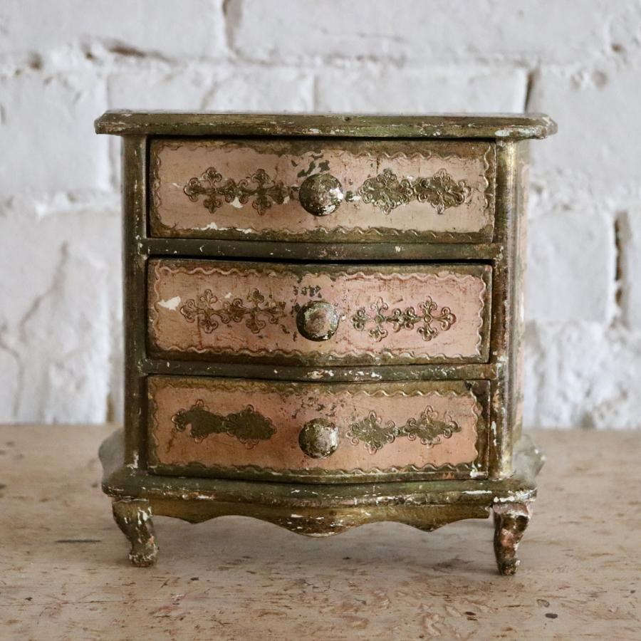 Miniature Florentine chest of drawers