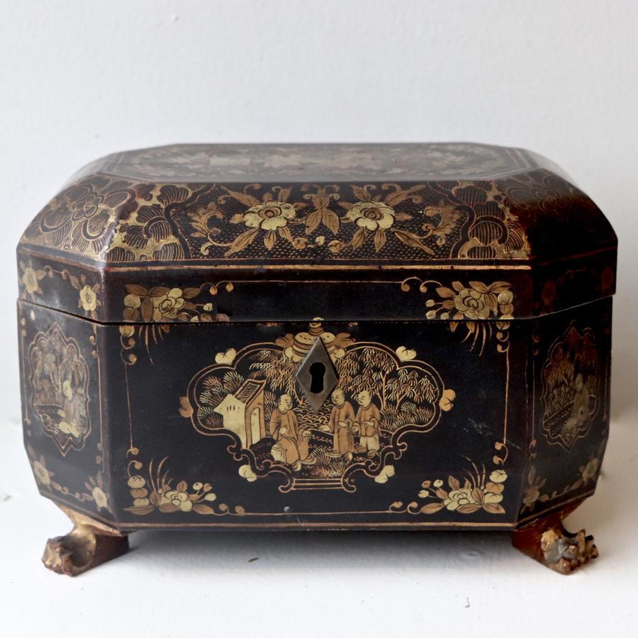 19th century chinoiserie tea caddy